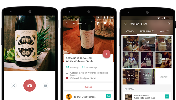 Apps de vinos Delectable Wine - Scan & Rate