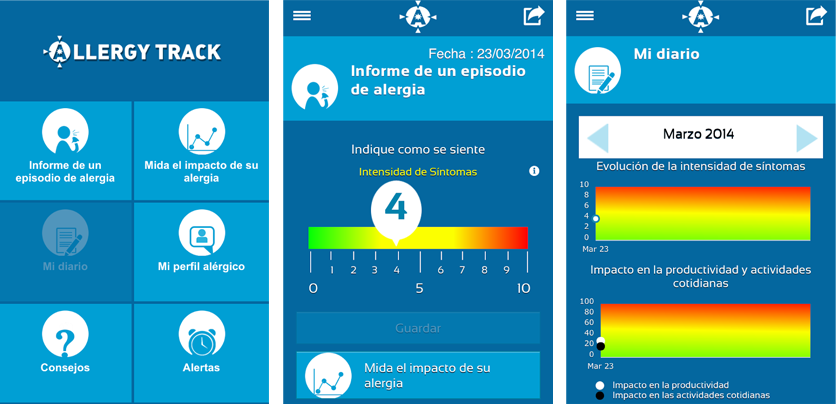 Apps para alérgicos Allergy Track