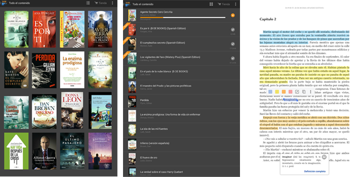 Apps de libros Amazon Kindle