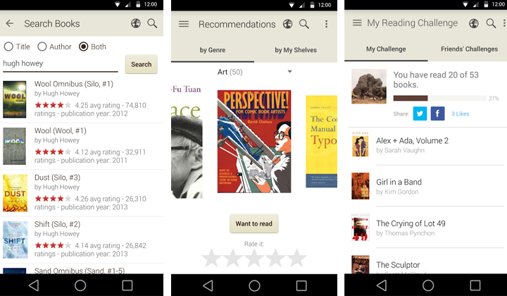 Apps de libros Goodreads