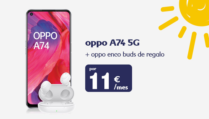 Oppo A74 5G + auriculares Oppo Enco Buds